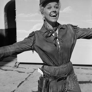 "Actress Doris Day in Costume on the Set of ""Calamity Jane"" by Ed Clark"