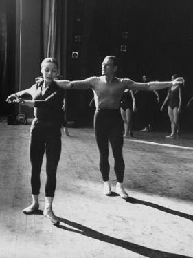"""Ballerina Maria Tallchief and Andre Eglevsky Rehearsing """"Swan Lake"""" by Ed Clark"""