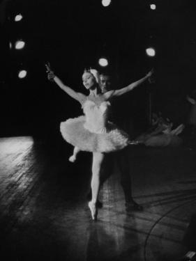 "Ballerina Maria Tallchief Performing in ""Swan Lake"" by Ed Clark"