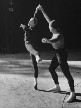 """Ballerina Maria Tallchief Rehearsing """"Swan Lake"""" with Andre Eglevsky by Ed Clark"""