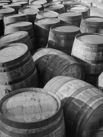 Barrels Sitting in Warehouse at Jack Daniels Distillery by Ed Clark