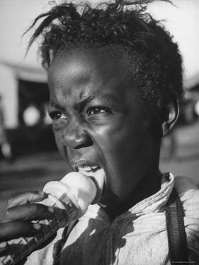 Boy Eating Ice Cream at the Kentucky State Fair by Ed Clark