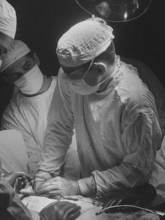 Heart Operation Performed by Surgeons at Hospital by Ed Clark