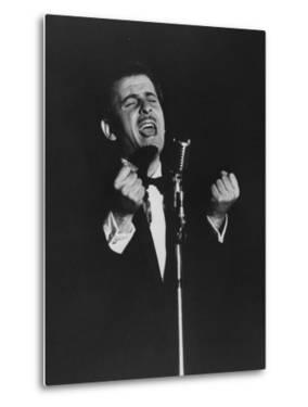 Latin Singer Domenico Modugno Performing on Stage by Ed Clark