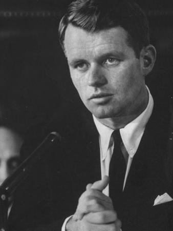 Robert F. Kennedy at Teamster Hearings by Ed Clark