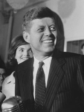 Sen. John F. Kennedy and His Wife by Ed Clark