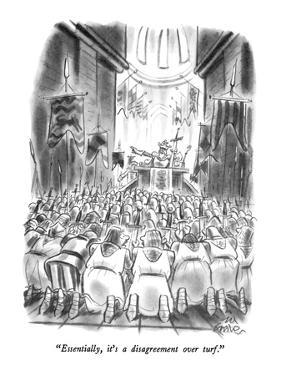 """""""Essentially, it's a disagreement over turf."""" - New Yorker Cartoon by Ed Fisher"""
