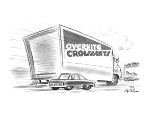 OVERNITE CROISSANTS - New Yorker Cartoon by Ed Fisher