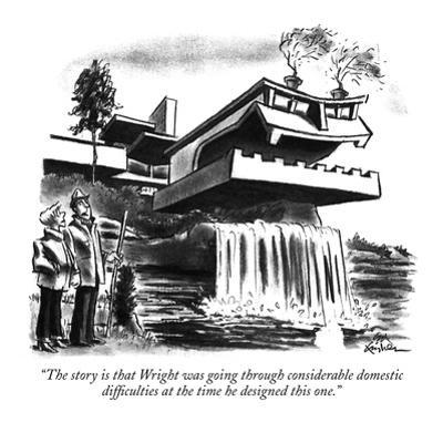 """The story is that Wright was going through considerable domestic difficul…"" - New Yorker Cartoon by Ed Fisher"