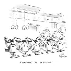"""""""What happened to Pierce, Fenner, and Smith?"""" - New Yorker Cartoon by Ed Fisher"""
