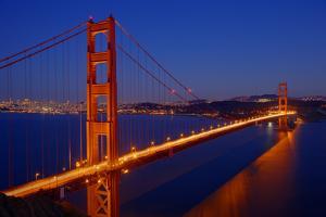 Golden Gate Bridge at Dusk by Ed Freeman