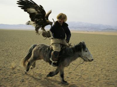 A Mongolian Eagle Hunter in Kazahkstan