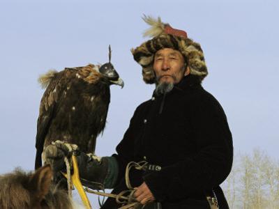 A Mongolian Eagle Hunter in Kazakhstan