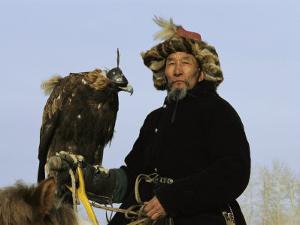 A Mongolian Eagle Hunter in Kazakhstan by Ed George