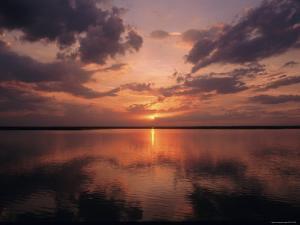 A Sunset in Los Llanos, Venezuela by Ed George