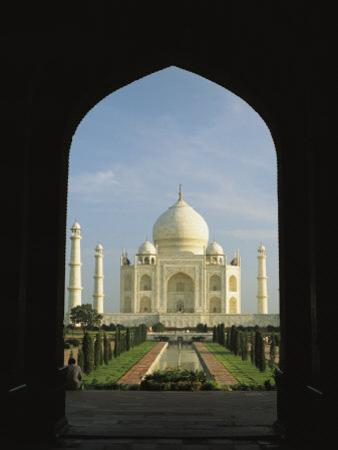 A View of the Taj Mahal Framed Through a Doorway