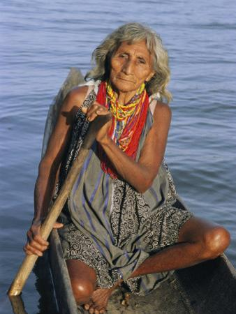 A Warao Indian in a Canoe