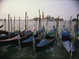 Gondolas at Anchor Line a Shore by Ed George