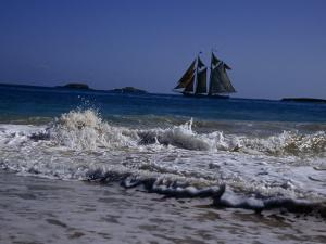 Sailing Ship Off of the Coast of Puerto Rico by Ed George