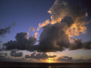 Sunset Near Silk Cay, Belize by Ed George
