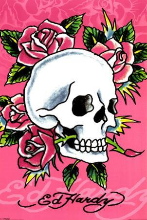 Ed Hardy - Pink Skull & Roses by Ed Hardy