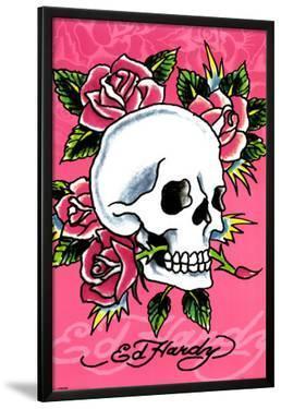 Ed Hardy - Pink Skull & Roses by Ed Hardy