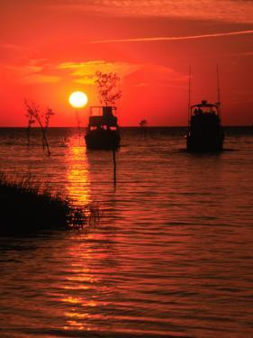Fishing Boats, Sunset, Rock Harbor, Cape Cod, MA by Ed Langan