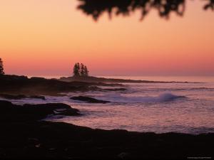 Sunrise, Tall Ship Island, East Boothbay, ME by Ed Langan