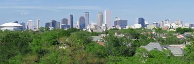 New Orleans Skyline Panorama by Ed Metz