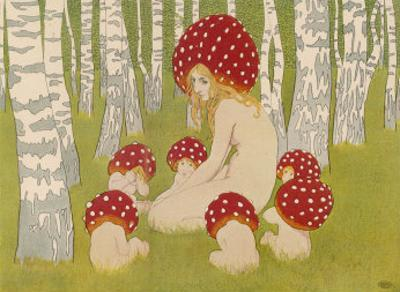 Creatures of the Woods in Their Toadstool Hats by Ed. Okun