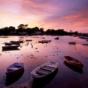 View of a Beautiful Sunset across Cockwood Harbour, Devon, UK with Boats in the Foreground by Ed Pavelin
