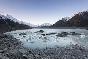 Hooker Glacier Lake, Mount Cook (Aoraki), Hooker Valley Trail, South Island, New Zealand by Ed Rhodes