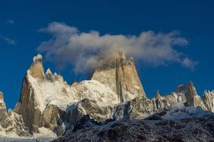 Mount Fitz Roy and Cerro Torre, Los Glaciares National Park, Patagonia, Argentina by Ed Rhodes