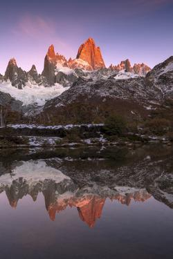 Mountain range of Cerro Torre and Fitz Roy, Los Glaciares National Park, Argentina by Ed Rhodes