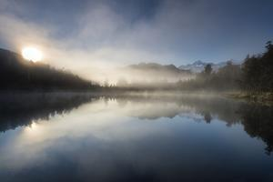 Sunrise at Lake Matheson, near the Fox Glacier in South Westland, South Island, New Zealand by Ed Rhodes