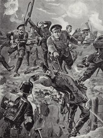 Corporal Joseph Davies and Eight Men Routing with the Bayoney a Party of Germans