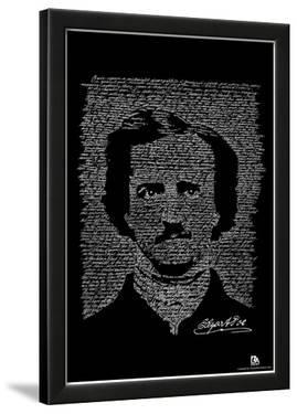 Edgar Allan Poe The Raven Text Poster