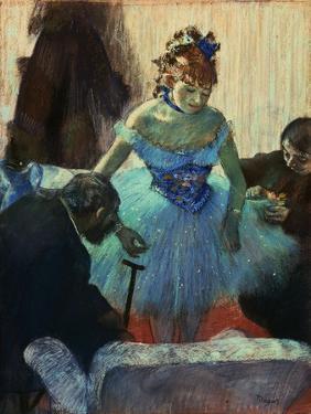 A Ballet Dancer in Her Dressing Room by Edgar Degas
