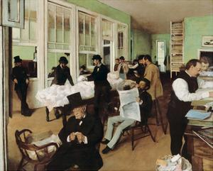 A Cotton Office in New Orleans, 1873 by Edgar Degas