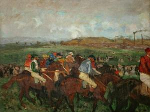 A Gentlemen's Race, Before the Start, 1862 and 1882 by Edgar Degas