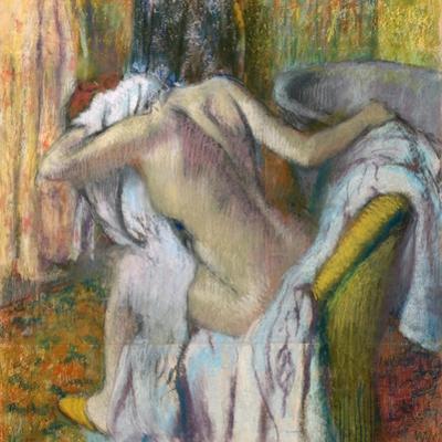 After the Bath, C. 1890 by Edgar Degas