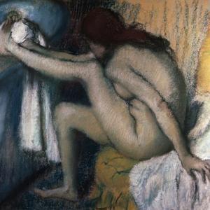 After the Bath by Edgar Degas