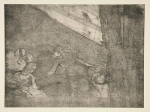 At the Ambassadeurs, c.1877 by Edgar Degas