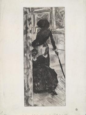 Au Louvre: La Peinture , c.1879-80 by Edgar Degas
