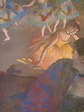 Ballerina and Lady with Fan by Edgar Degas
