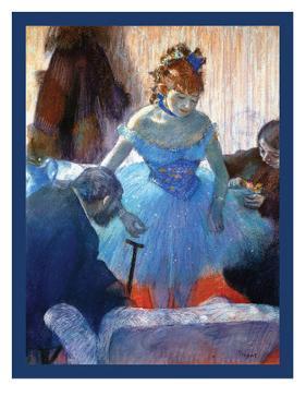 Ballerina Changing by Edgar Degas
