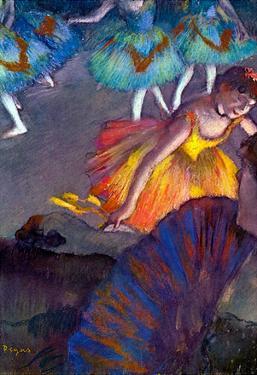 Edgar Degas Ballet from a Box View Art Print Poster