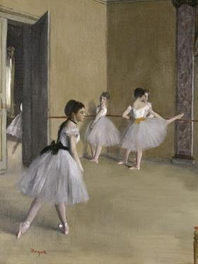 Ballet Room at the Opera in Rue le Peletier, c.1872 by Edgar Degas