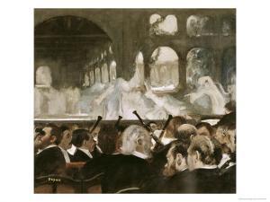 Ballet Scene from Mayerbeer's Roberto Il Diavola by Edgar Degas