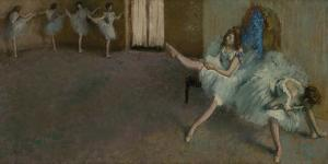 Before the Ballet by Edgar Degas